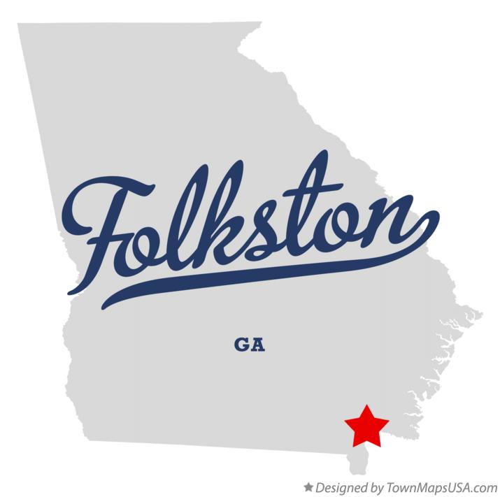 Map of Folkston Georgia GA