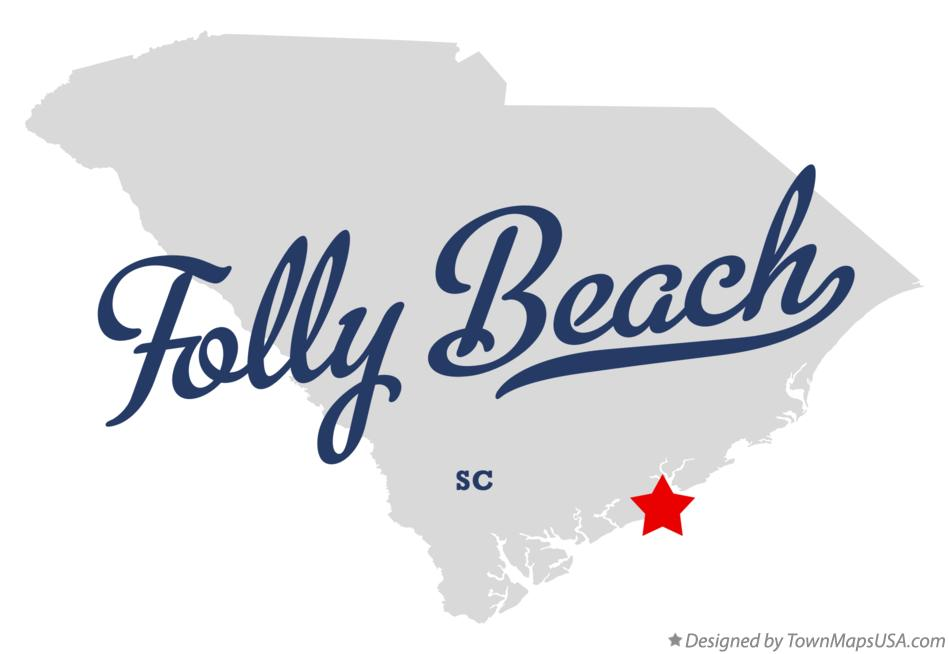 Folly Beach South Carolina Map.Map Of Folly Beach Sc South Carolina