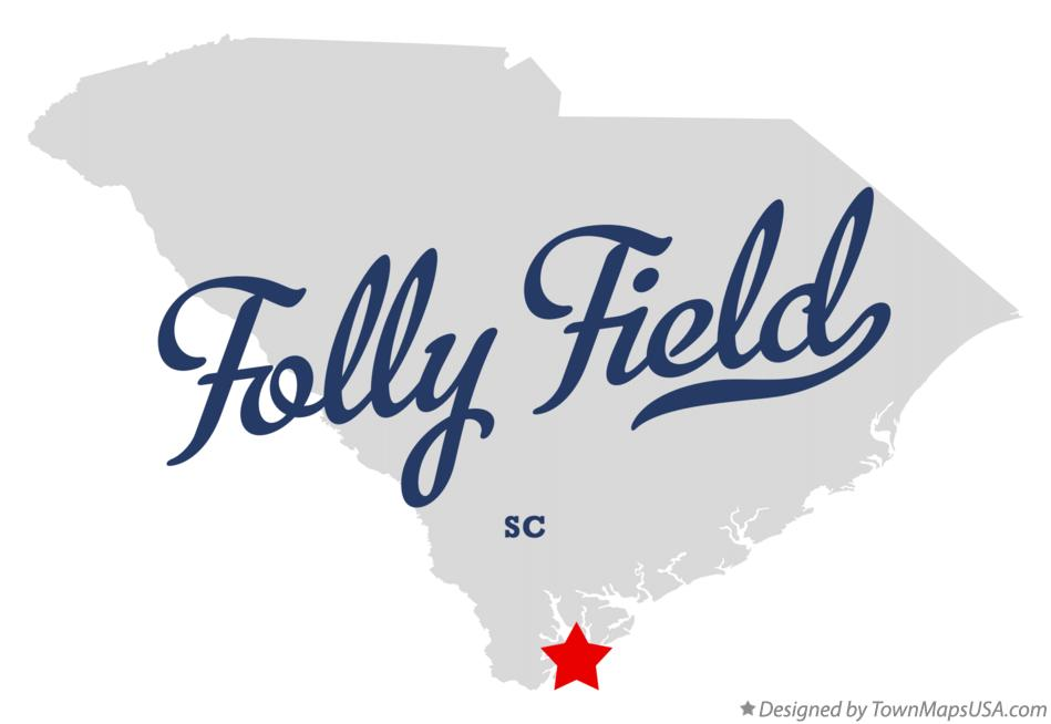 Map of Folly Field South Carolina SC