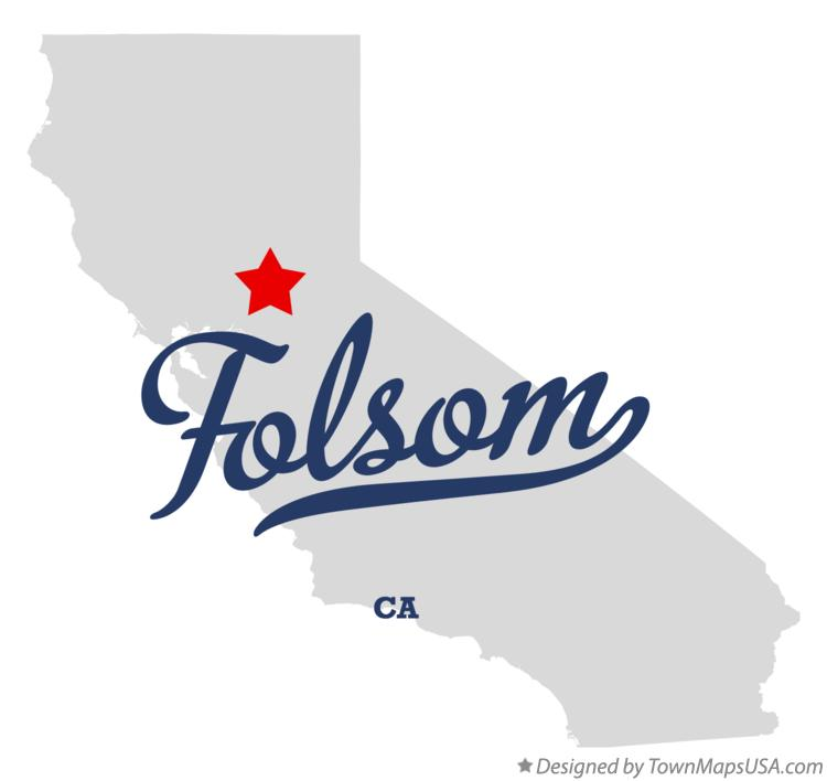 Map of Folsom California CA