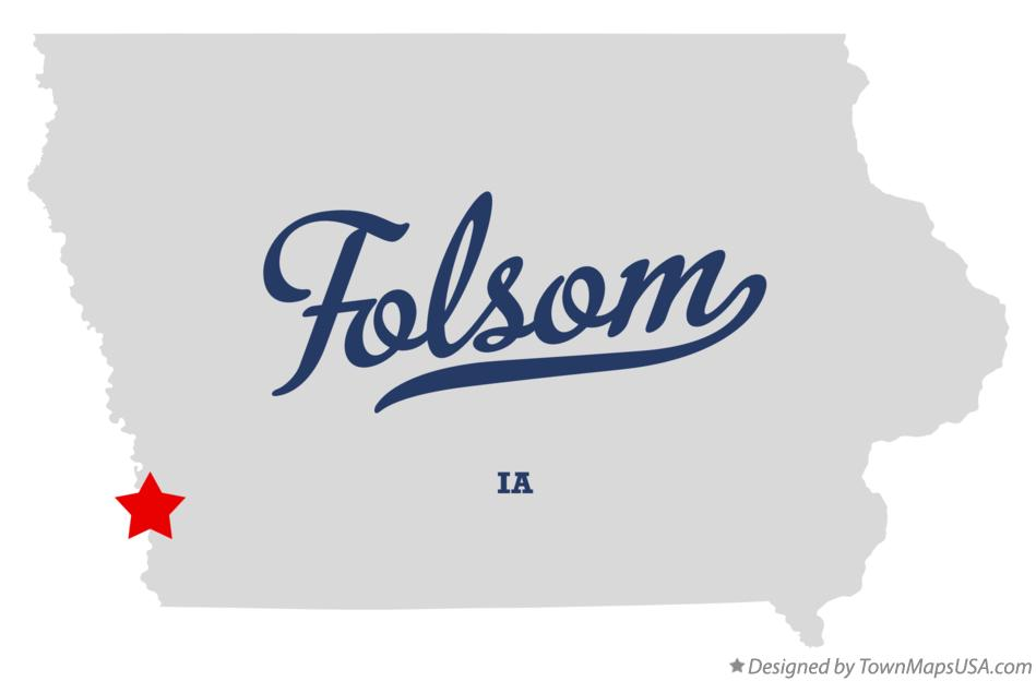 Map of Folsom Iowa IA