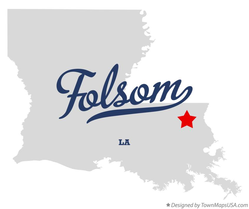 Map of Folsom Louisiana LA