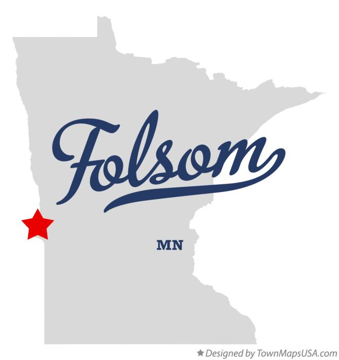 Map of Folsom Minnesota MN