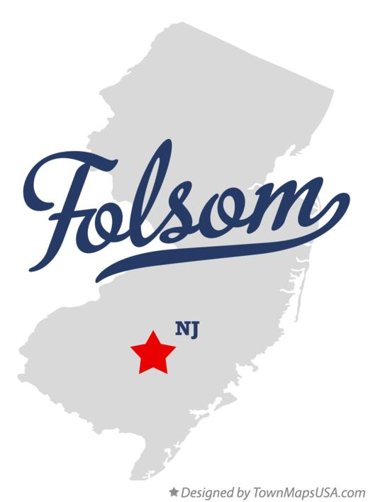 Map of Folsom New Jersey NJ