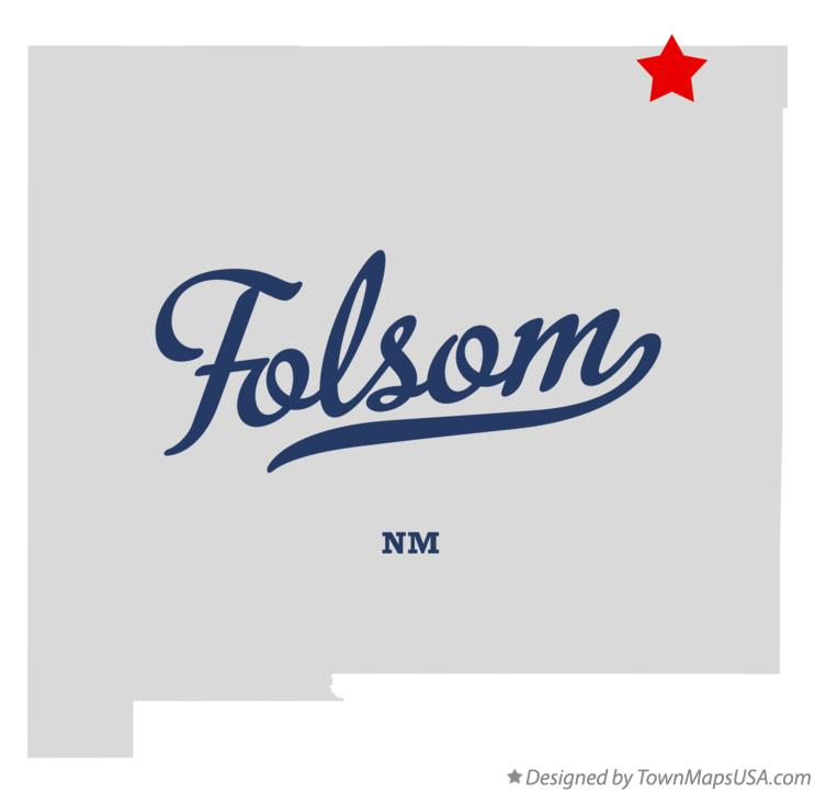 Map of Folsom New Mexico NM