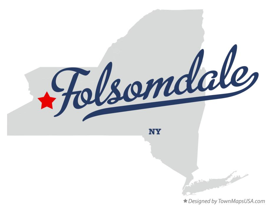 Map of Folsomdale New York NY