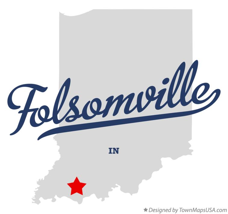 Map of Folsomville Indiana IN