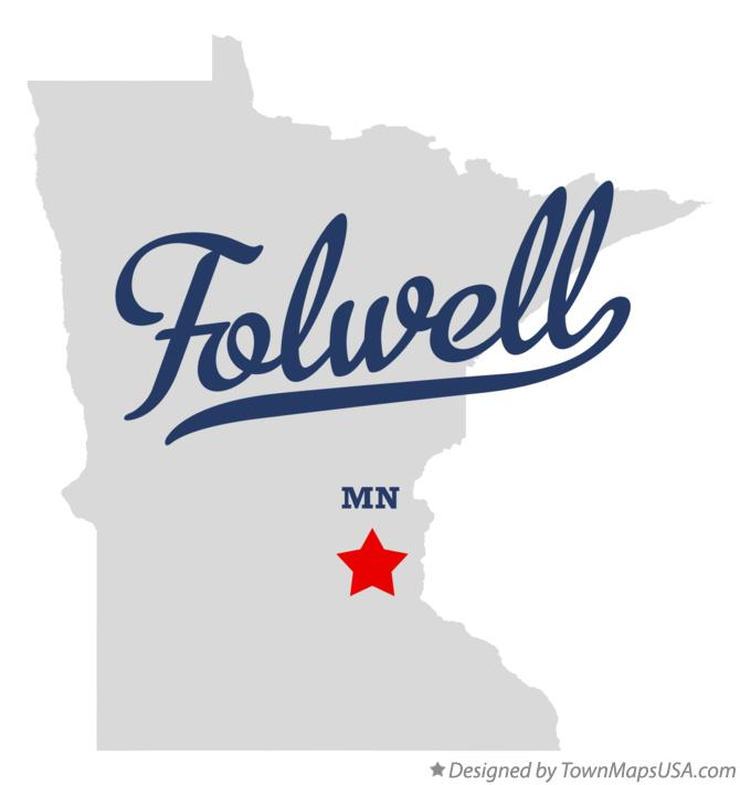 Map of Folwell Minnesota MN