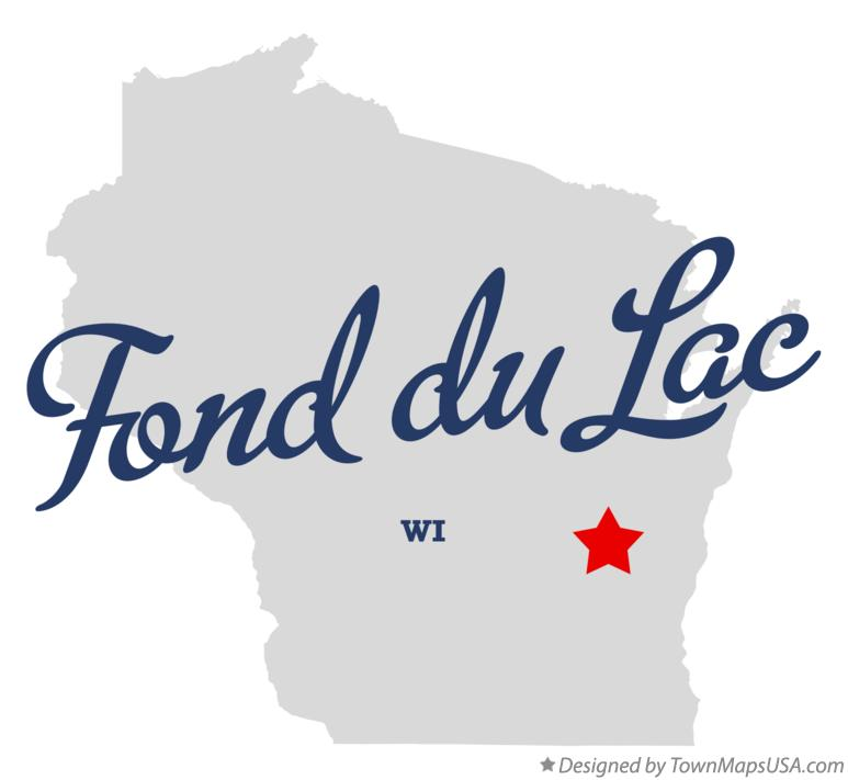 Map of Fond du Lac Wisconsin WI