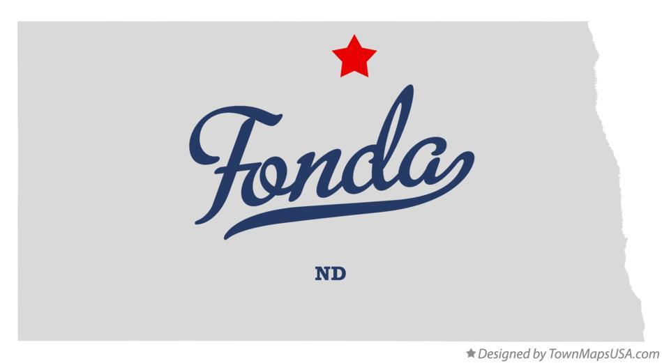 Map of Fonda North Dakota ND