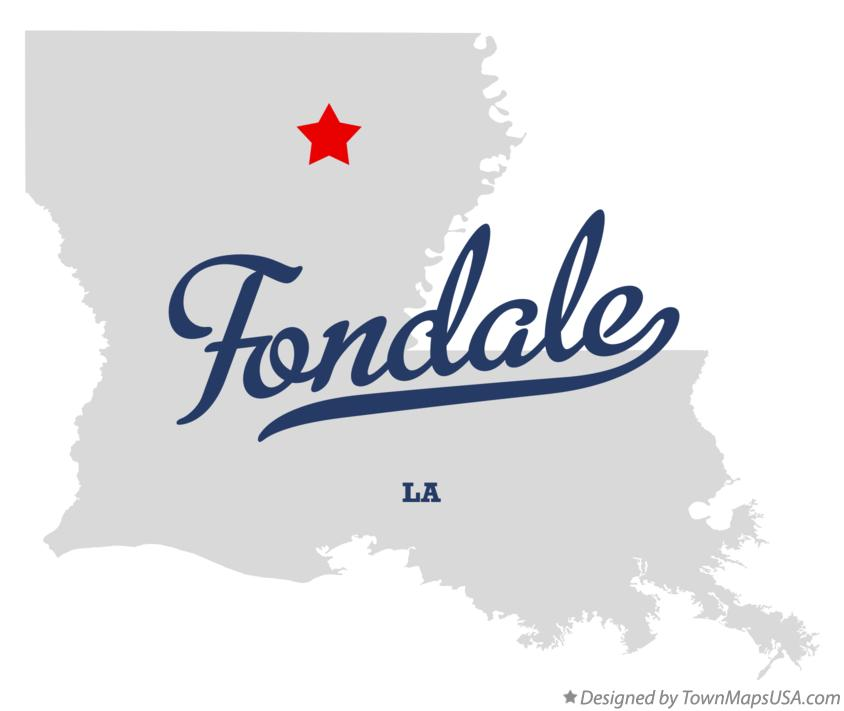 Map of Fondale Louisiana LA