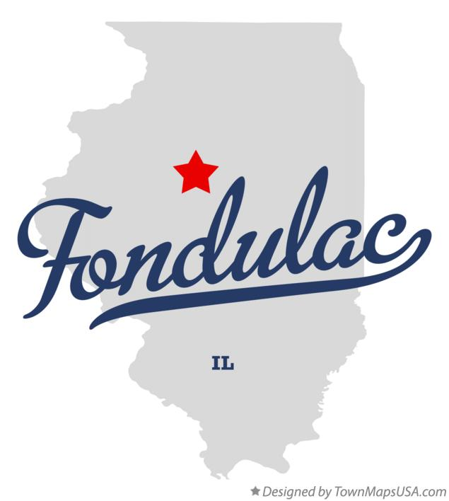 Map of Fondulac Illinois IL