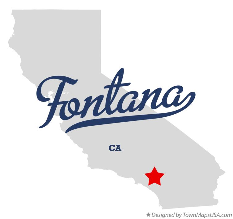 Map of Fontana California CA