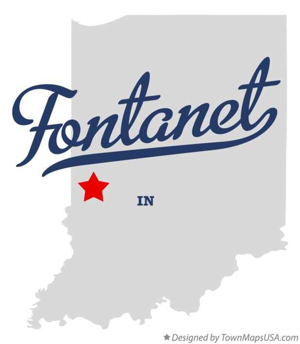 Map of Fontanet Indiana IN
