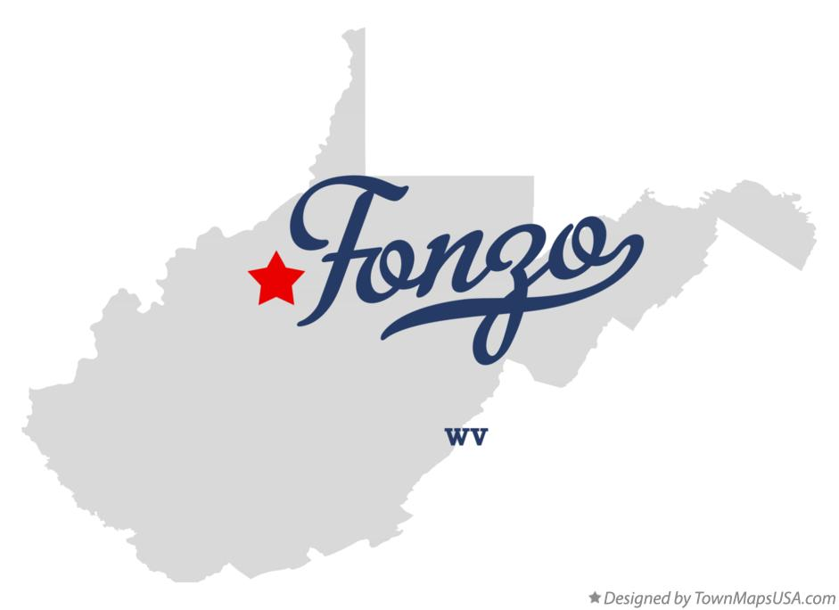 Map of Fonzo West Virginia WV