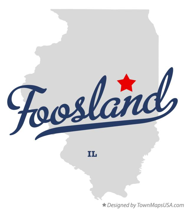Map of Foosland Illinois IL