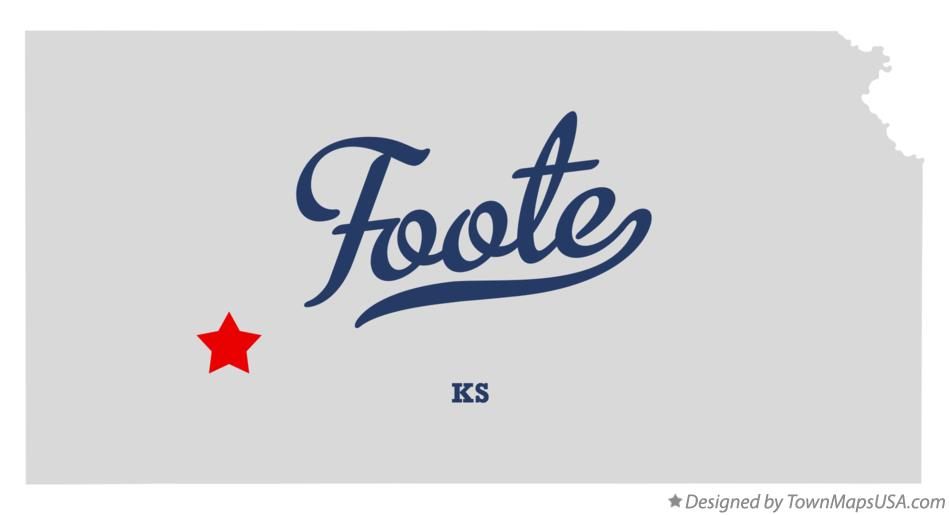 Map of Foote Kansas KS