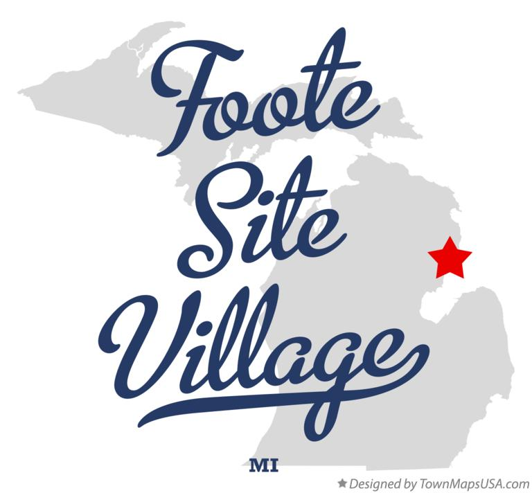 Map of Foote Site Village Michigan MI