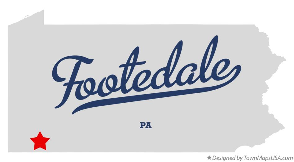 Map of Footedale Pennsylvania PA