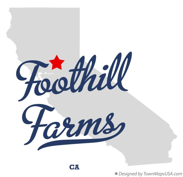 Map of Foothill Farms California CA