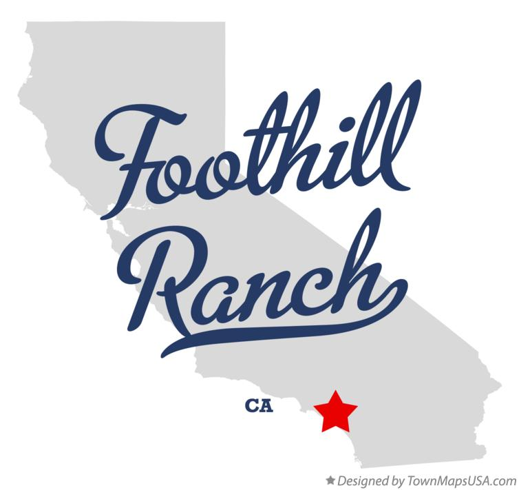 Map of Foothill Ranch California CA