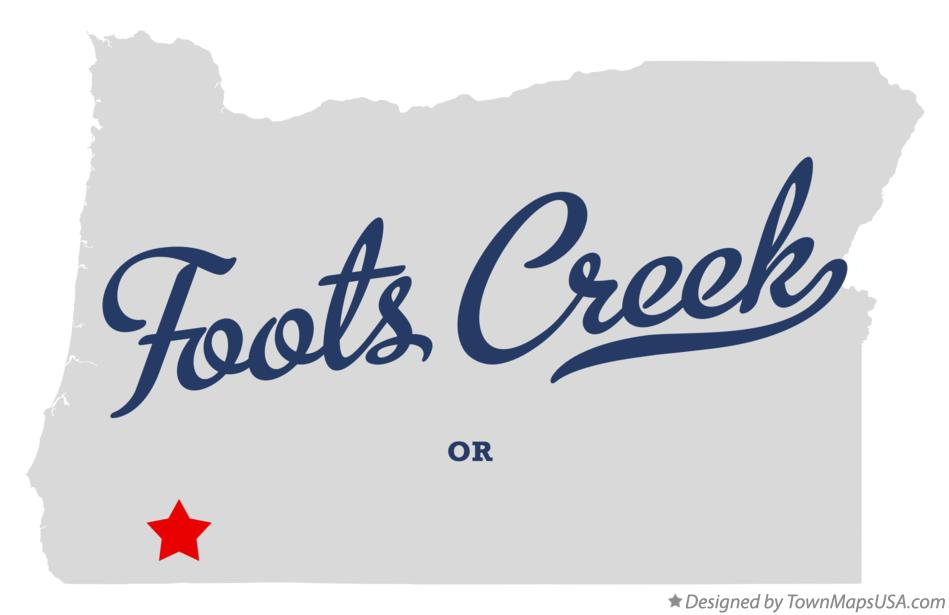 Map of Foots Creek Oregon OR