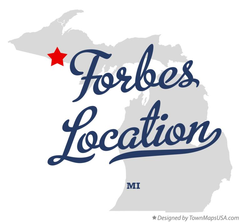 Map of Forbes Location Michigan MI