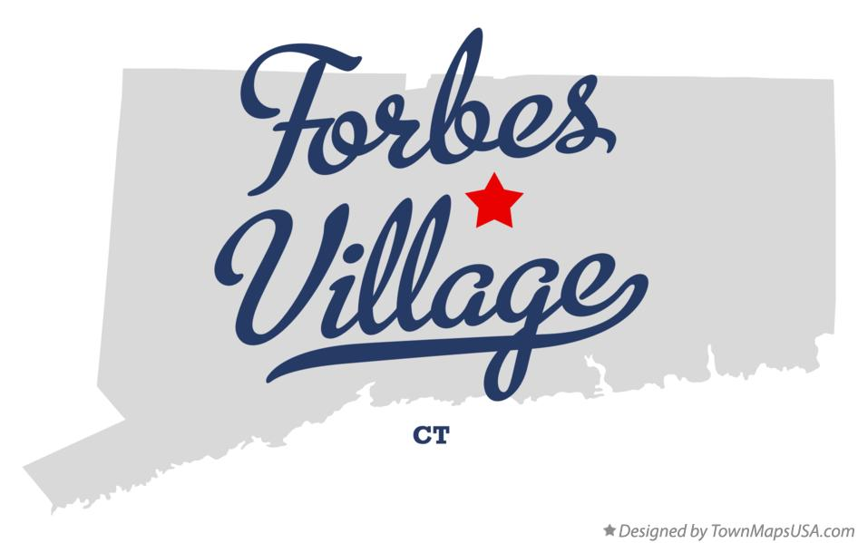 Map of Forbes Village Connecticut CT