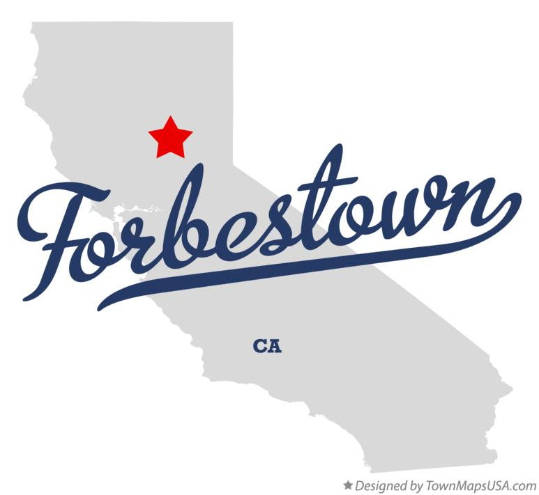 Map of Forbestown California CA