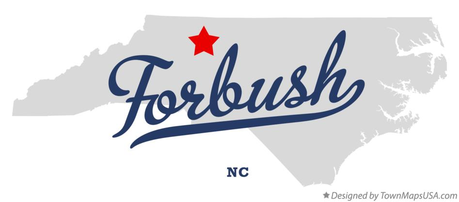Map of Forbush North Carolina NC