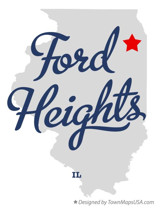 Map of Ford Heights Illinois IL