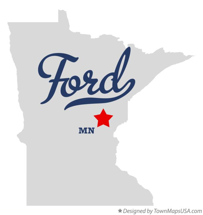 Map of Ford Minnesota MN
