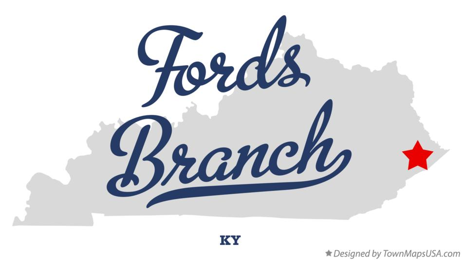 Map of Fords Branch Kentucky KY