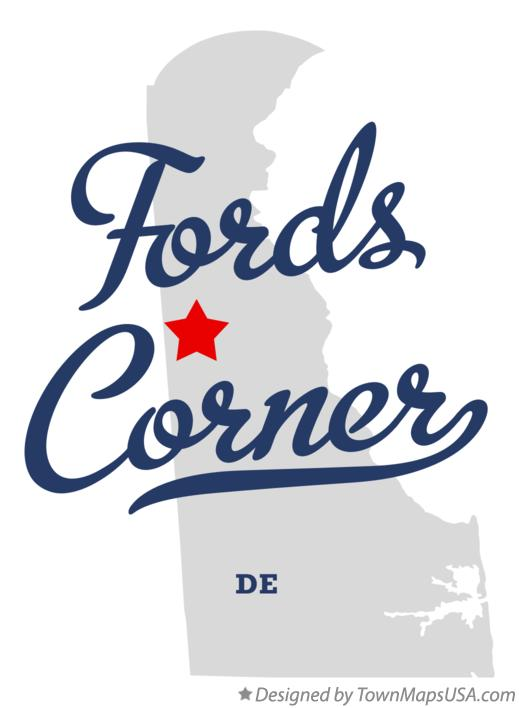 Map of Fords Corner Delaware DE