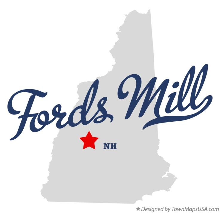 Map of Fords Mill New Hampshire NH