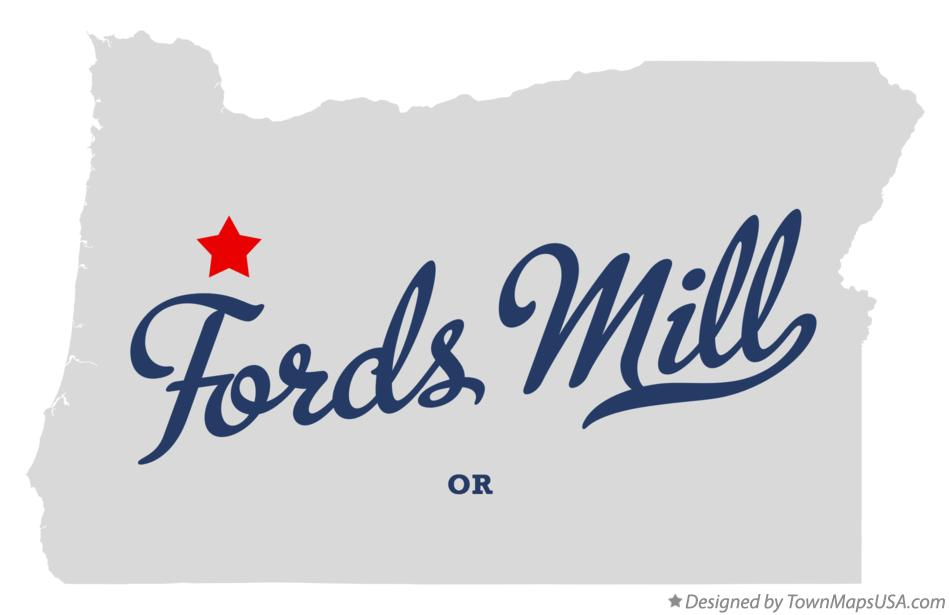 Map of Fords Mill Oregon OR