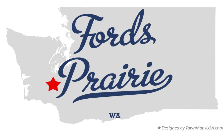 Map of Fords Prairie Washington WA