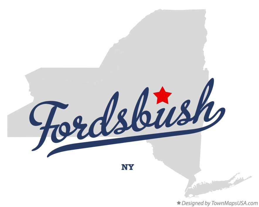 Map of Fordsbush New York NY
