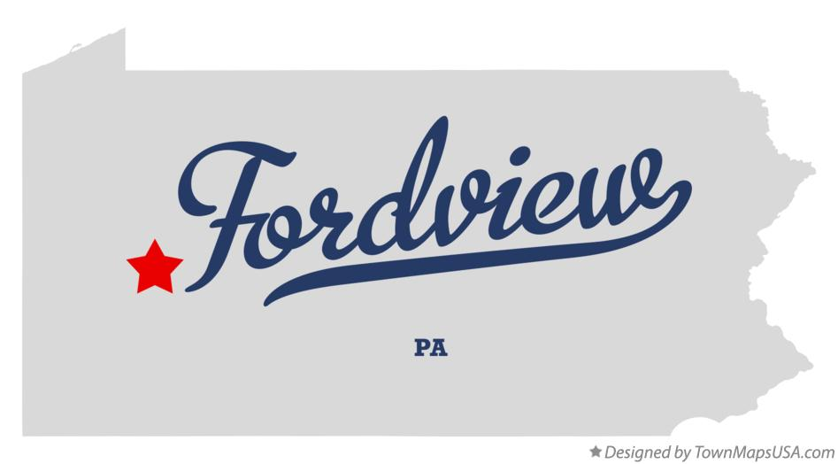 Map of Fordview Pennsylvania PA