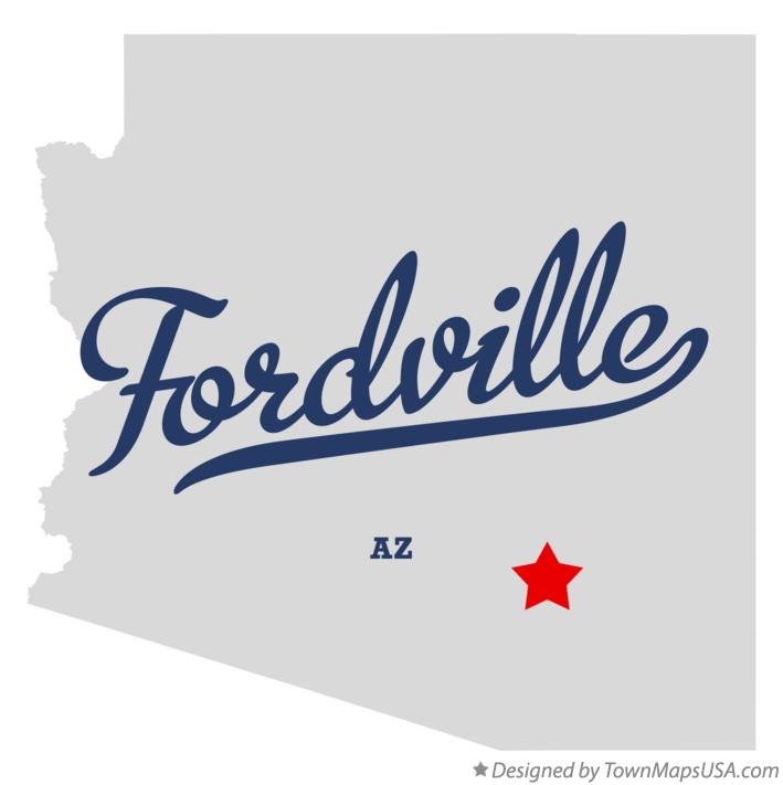 Map of Fordville Arizona AZ
