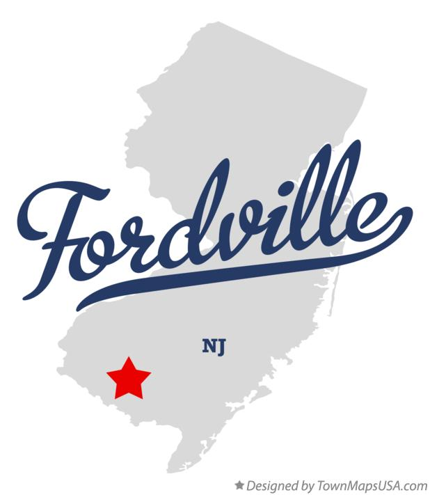 Map of Fordville New Jersey NJ