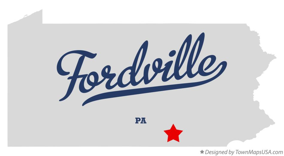 Map of Fordville Pennsylvania PA