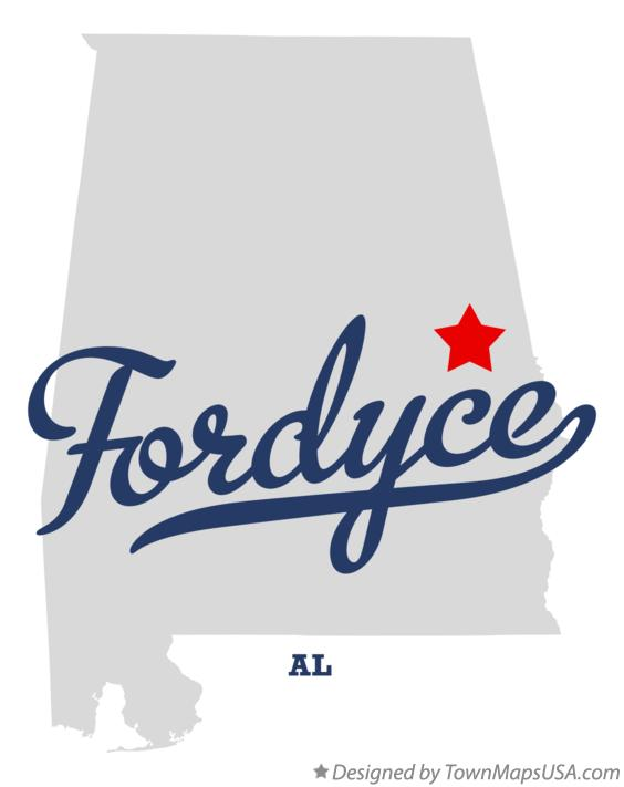 Map of Fordyce Alabama AL