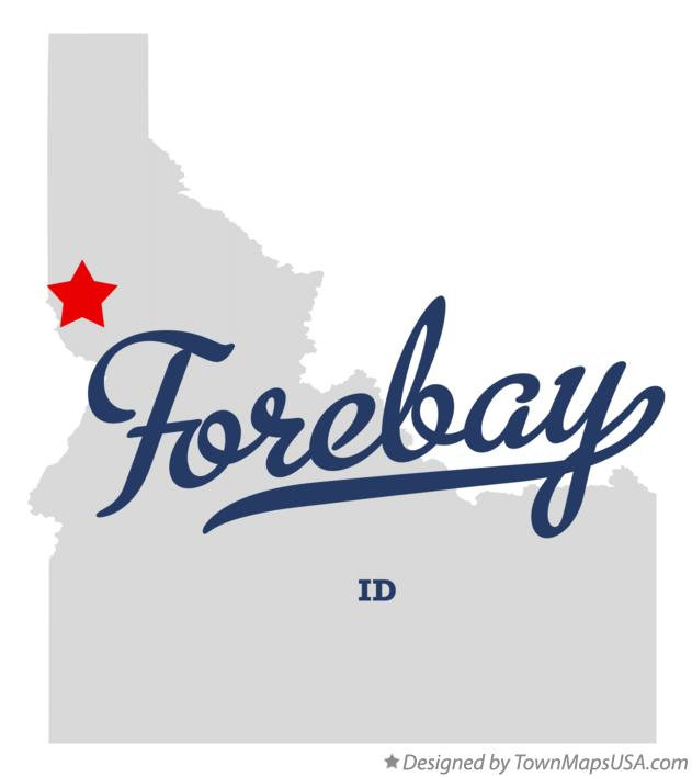 Map of Forebay Idaho ID