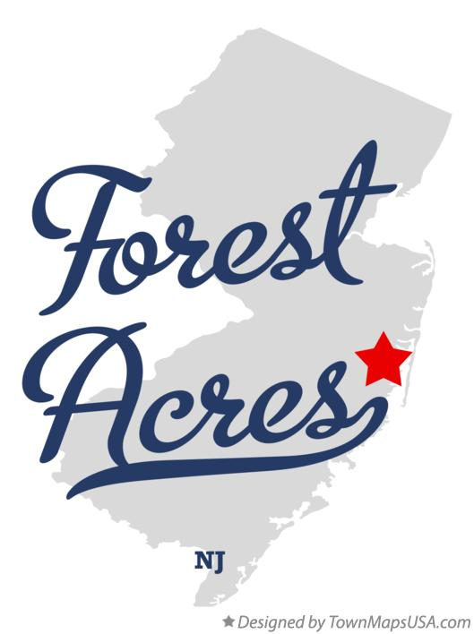 Map of Forest Acres New Jersey NJ