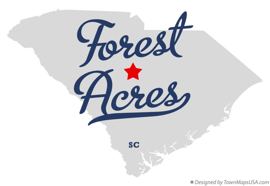 Map of Forest Acres South Carolina SC