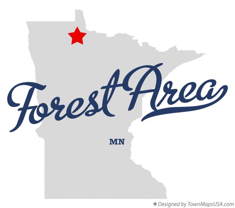 Map of Forest Area Minnesota MN