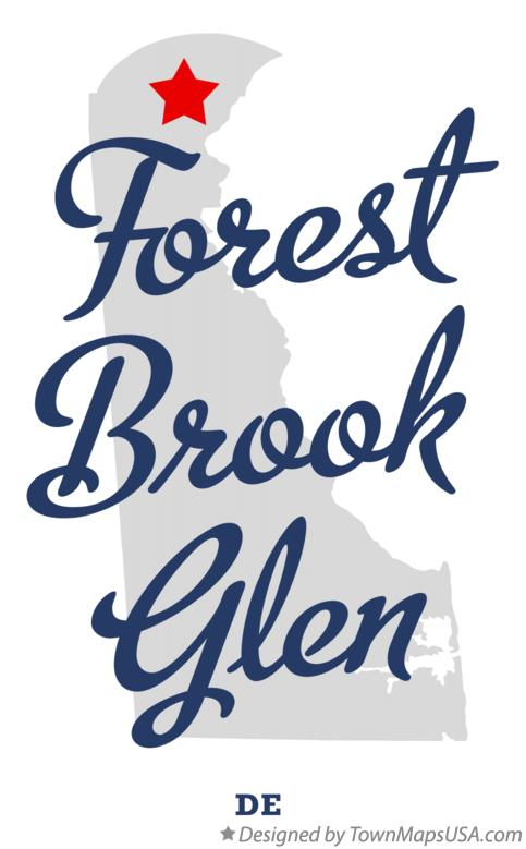 Map of Forest Brook Glen Delaware DE