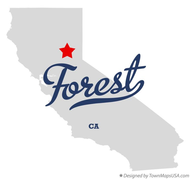 Map of Forest California CA