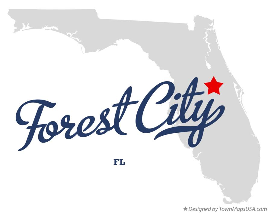 Map of Forest City Florida FL
